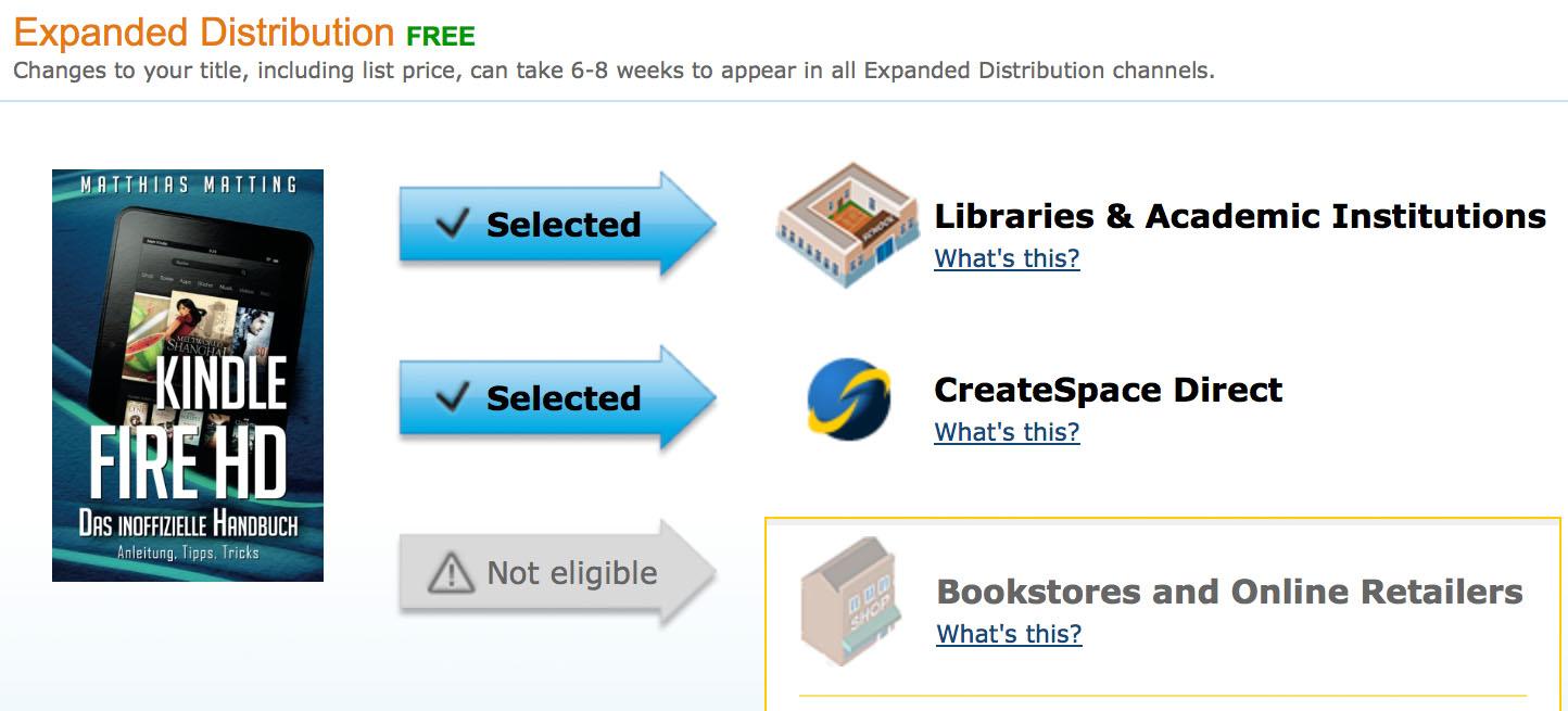 """CreateSpace: Vorsicht vor der """"Expanded Distribution"""" – wie Amazon ..."""